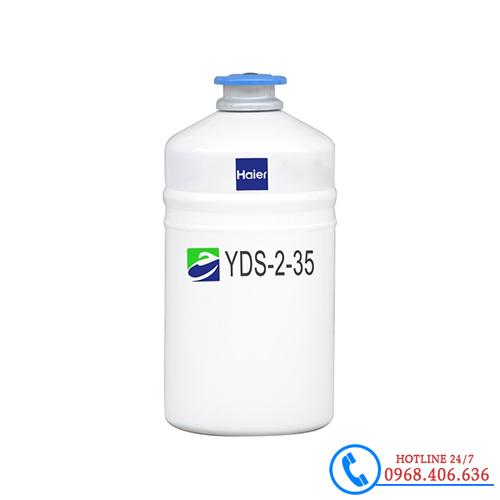 Hình ảnh Bình đựng nito lỏng 2 lít haier YDS-2-35 sản phẩm có sẵn tại Stech Sài Gòn