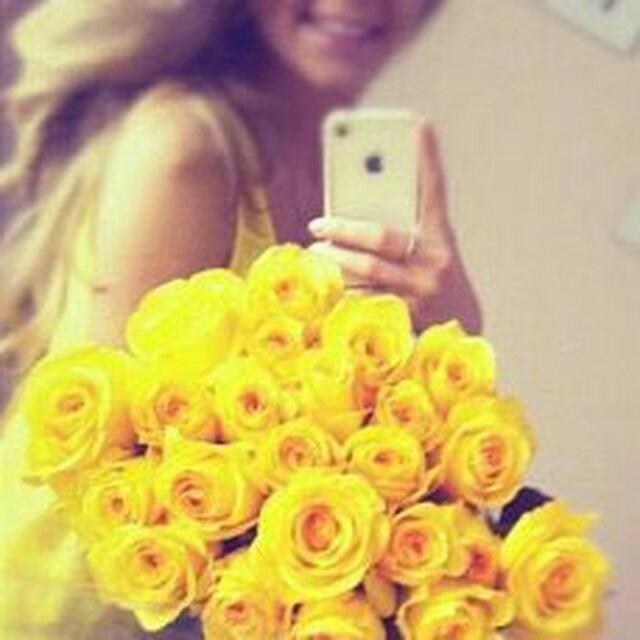 Красивое селфи с цветами 15