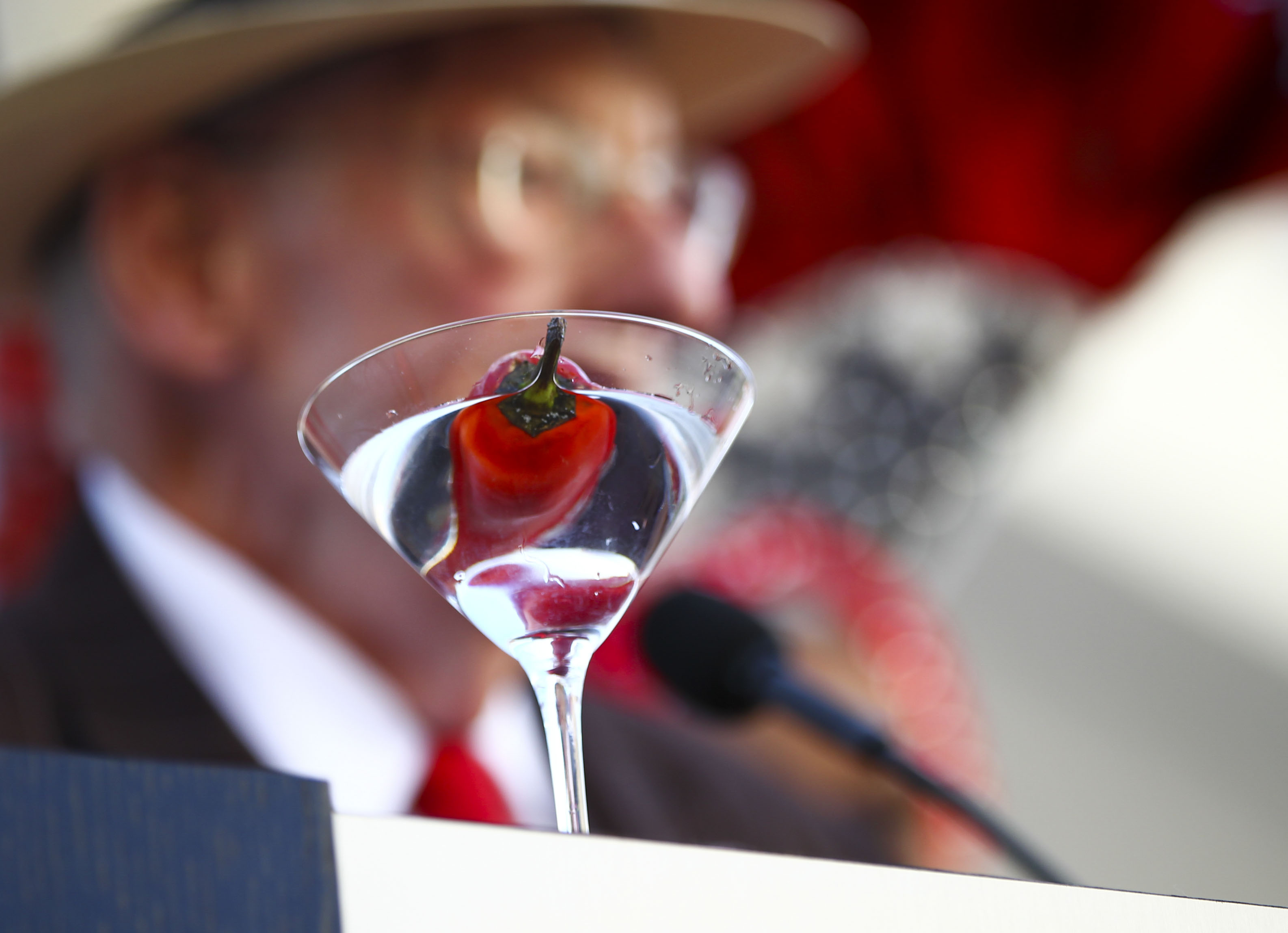 Oscar Goodman and a martini glass