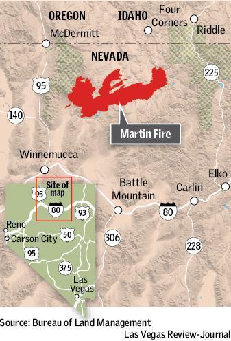 2k Reward Offered In Investigation Of Huge Nevada Wildfire Las