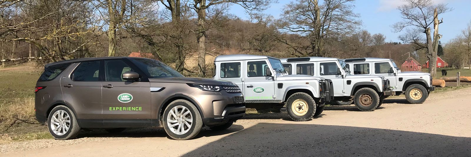 Land Rover Experience Danmark - vehicles