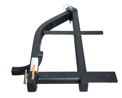 StowAway SwingAway frame in locked position