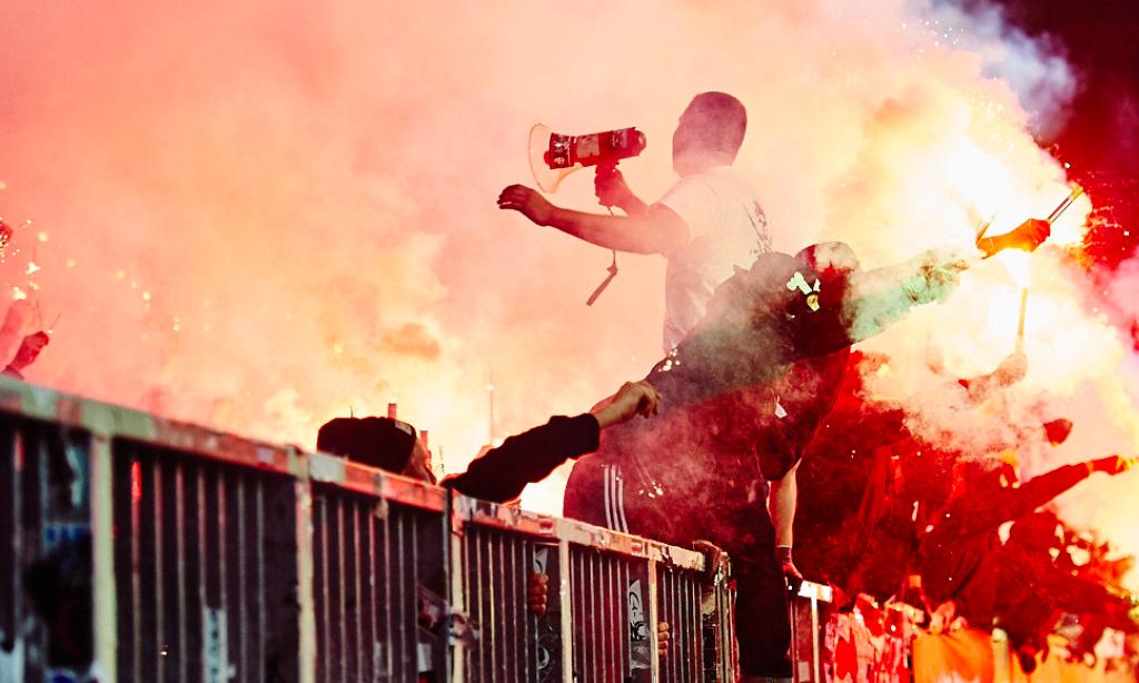 Wer zündelt, kriegt nix zu trinken #fcspf95 #Pyro