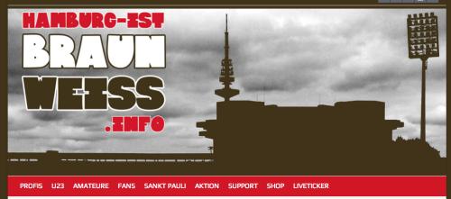 """Screenshot Startseite """"hamburg ist braun.-weiss""""-Blog"""