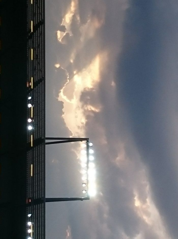 Himmel über dem Millerntor Stadion
