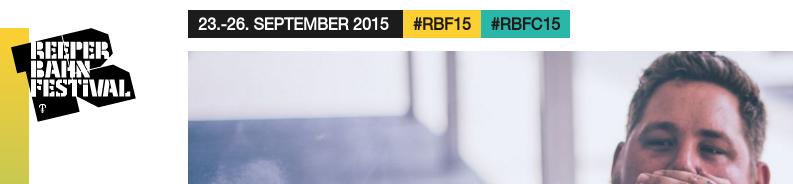Wir sehen uns auf dem Reeperbahn Festival, bspw. bei RAG'N'BONE MAN #RBF15