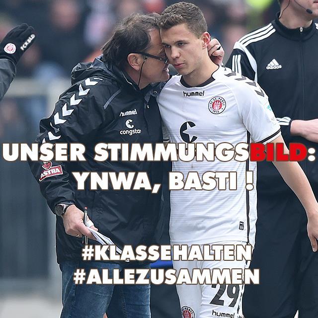 Facebook Aktion des FC St. Pauli: YNWA Basti, Foto: Offizielle FC St. Pauli Facebook Page