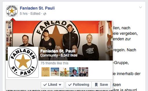 Fanladen St. Pauli auf Facebook
