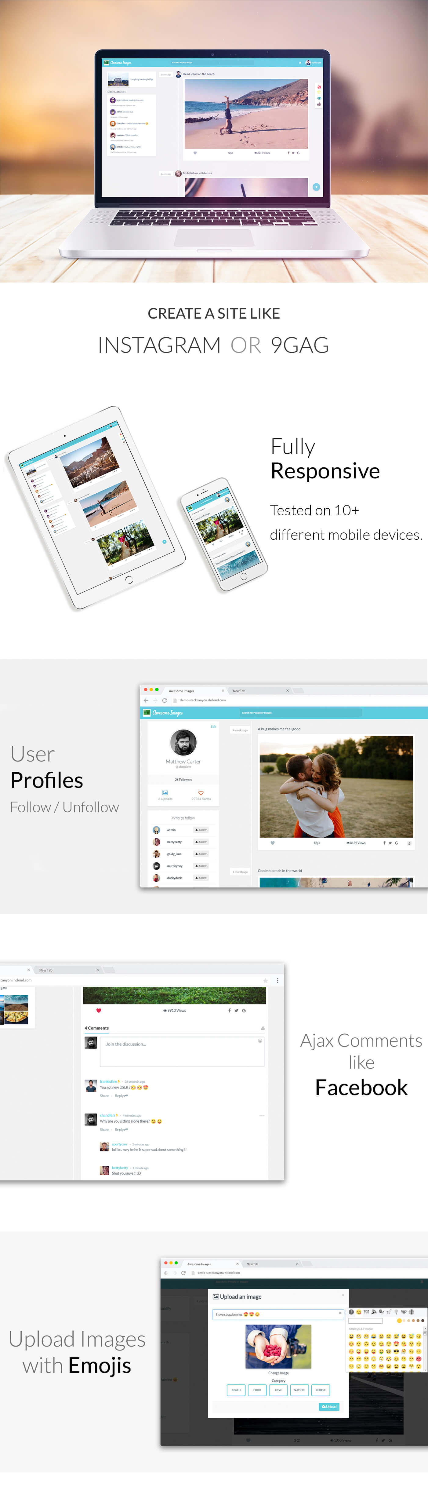 Awesome Images : Photo Sharing Platform - Supports GIFs and Social Login - 1