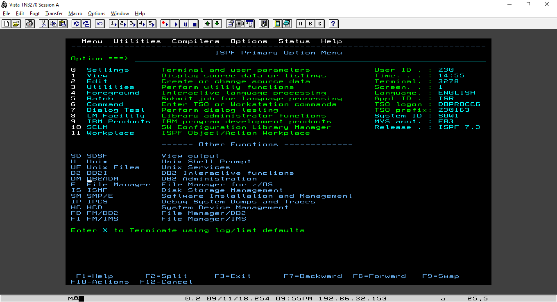 ISPF 7.3 Dashboard