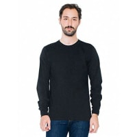 American Apparel Fine Jersey Long Sleeve T-Shirt - Black / XXL