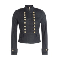 Burberry Jeansjacke im Military Look - Blau