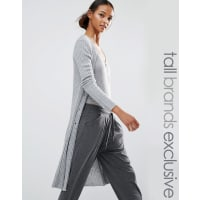 odd molly canna long cardigan grey