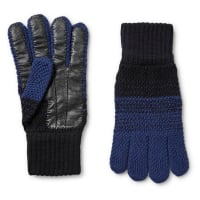 Paul Smith Colour-block Wool And Leather Gloves - Mitternachtsblau