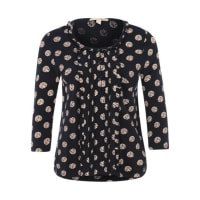 Tom Tailor Jerseybluse mit All Over-Print blau