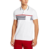 Tommy Hilfiger Herren Poloshirt Layton Eng Stp Polo S/s Sf