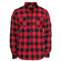 Urban Classics Checked Flanell Hemd schwarz/rot