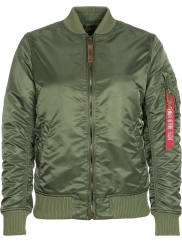Alpha Industries Ma-1 Vf 59 W Winterjacken Bomberjacke grün orange grün orange