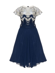 Chi Chi London Curve Embroidered georgette dress