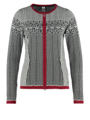 Dale of Norway SIGRID Cardigan black/off white/red rose
