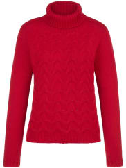 Peter Hahn Roll neck jumper in 100% cashmere from Peter Hahn Cashmere red