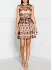 Red Valentino Polka Dot Lace Dress - Pink/Black, Size It 42