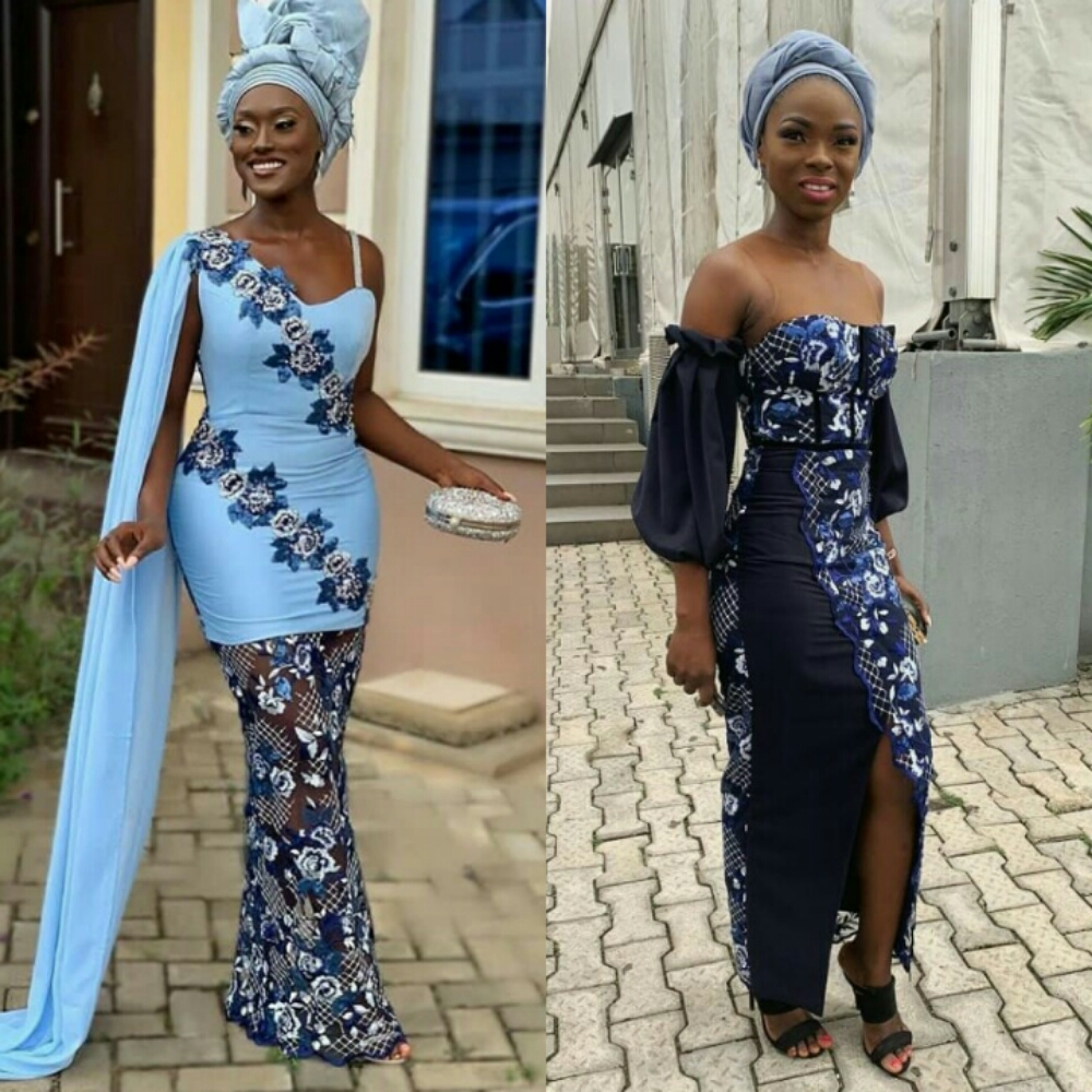 Some Cute Asoebi Styles From  Tomike Adeoye And Barash Ta Wedding Ceremony