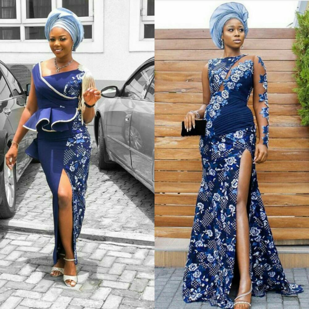 Some Cute Asoebi Styles From  Tomike Adeoye And Barash Ta Wedding Ceremony
