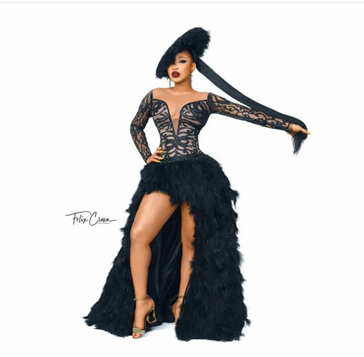 Tonto Dike Celebrates In A Gorgeous Outfit