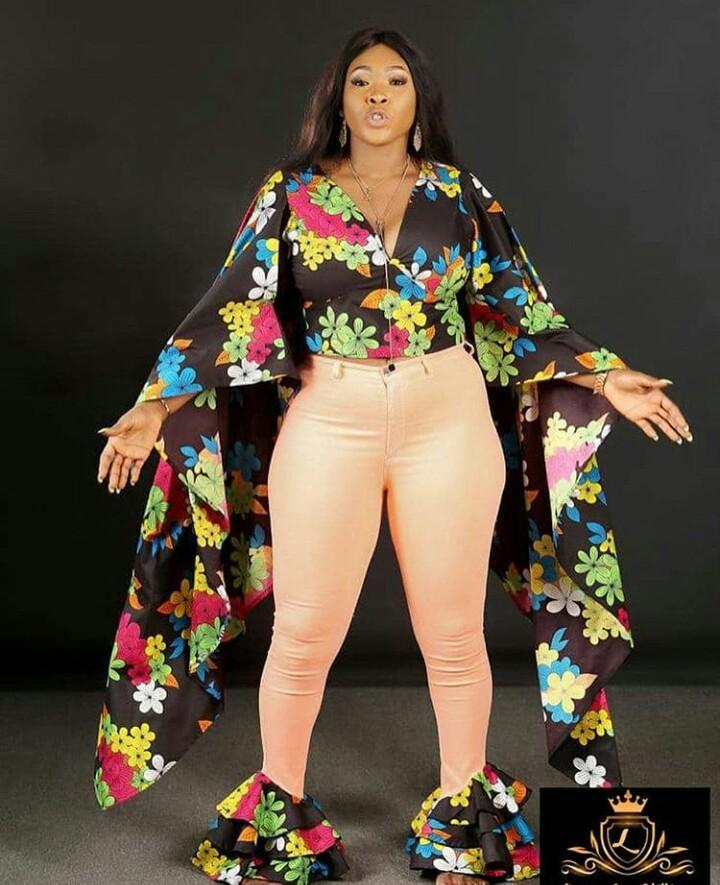 Ankara Combination Styles With Lioma Jess