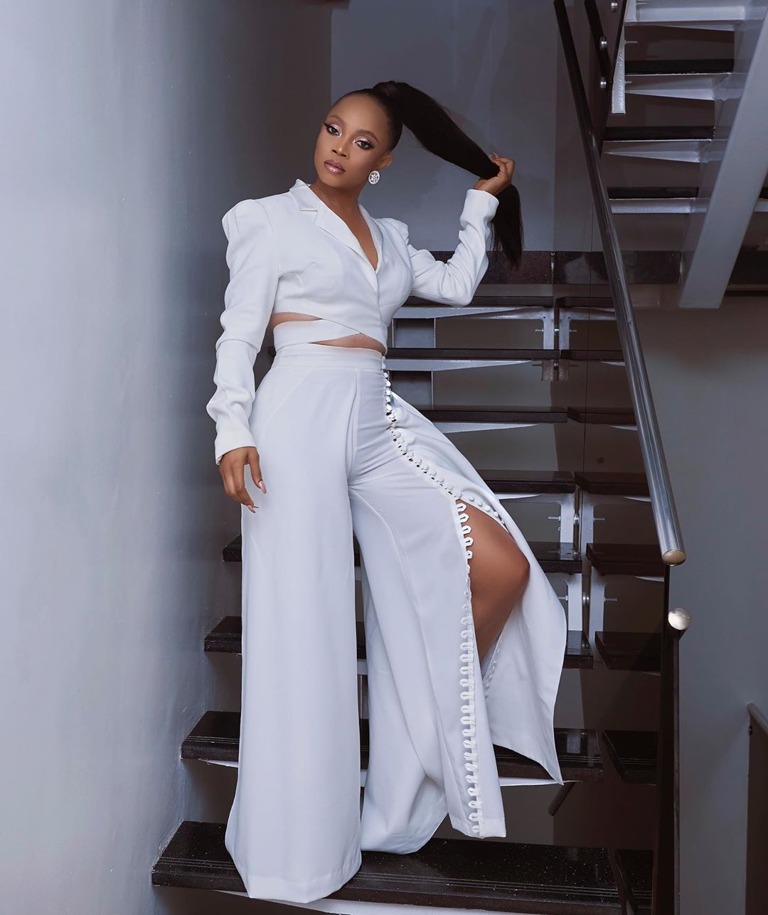 Toke's Outfit To The Unveiling Of Her Partnership With Oppo Mobile
