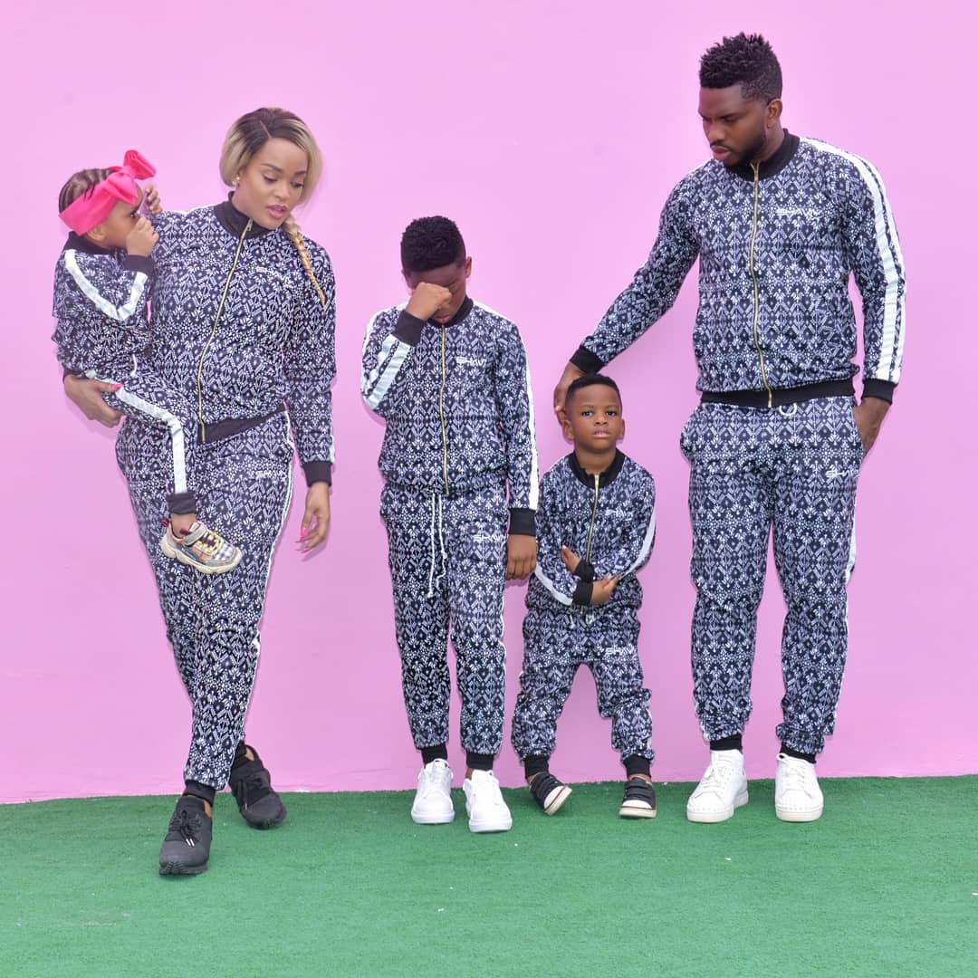 Joseph Yobo And Family Step Out In A Matching Outfit