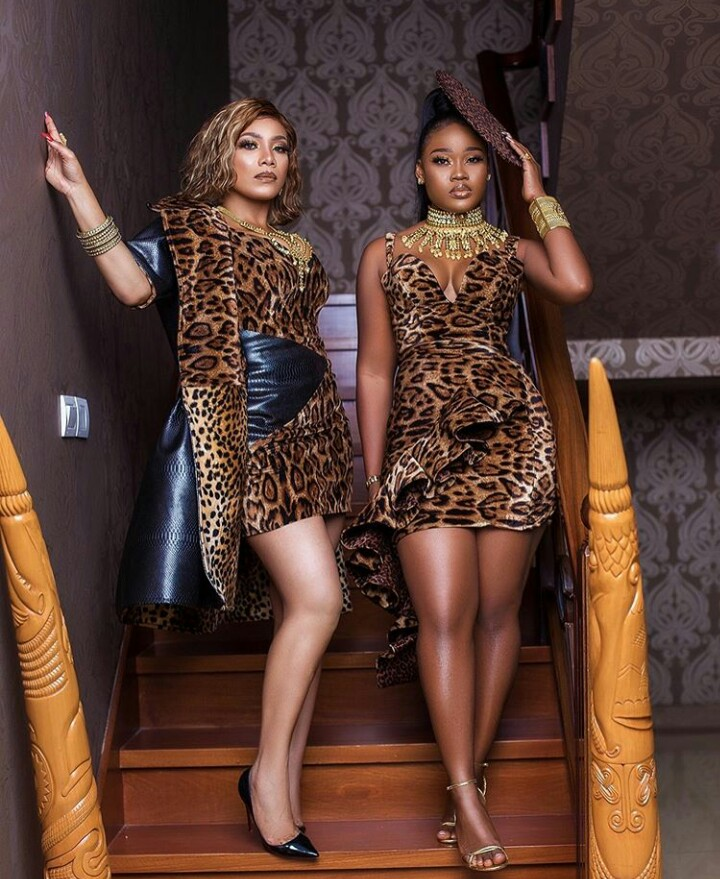 Zynnell Zuh And Cee-C Twinning In A Tiannah's Custom Made Piece