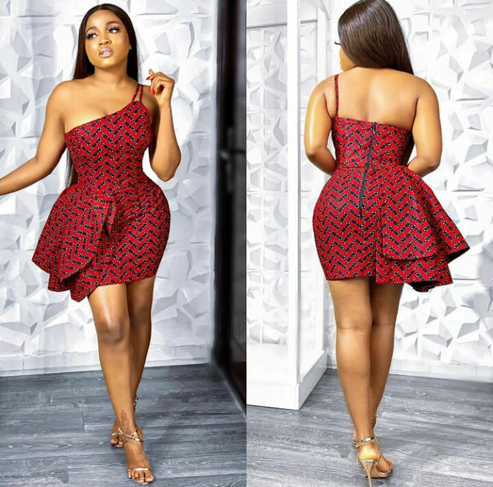 Ankara Short Gown Styles You Must Not Miss This 2020