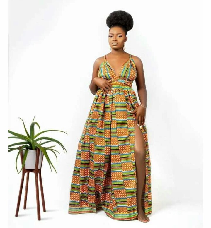 Cute Styles To Rock Your Maxi Ankara Dress With One Side Slitting