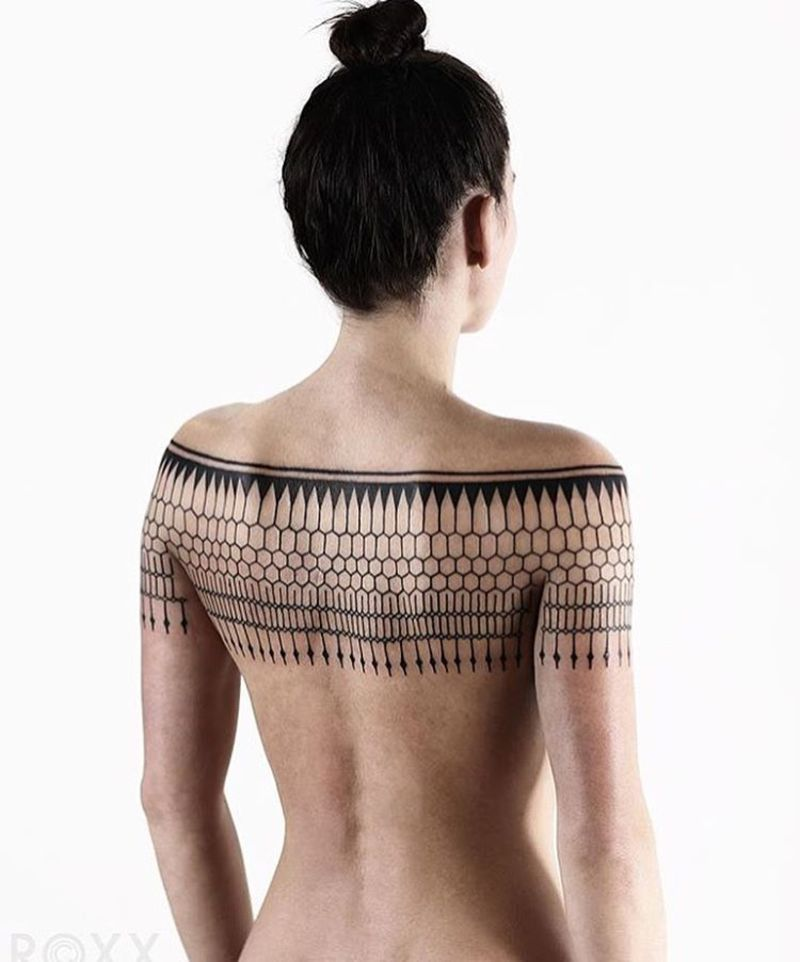 40 More Geometrically Satisfying Tattoos - Digital Art Mix
