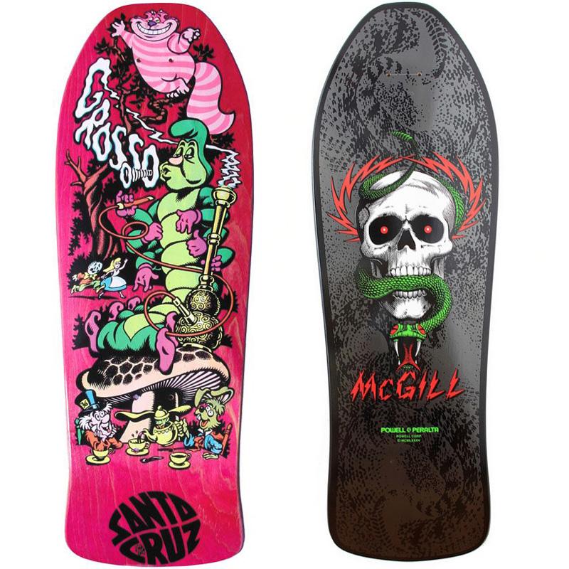 50 Classic Decks - Skateboard Art from the 80s and 90s - Digital Art Mix