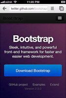 Bootstrap mobile web page