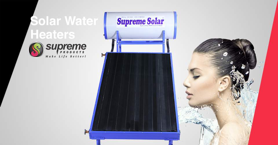 Supreme FPC solar water heaters