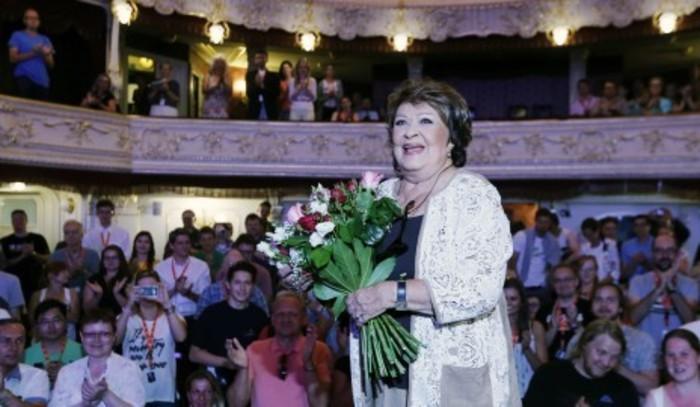 Jiřina Bohdalová v Karlových Varech na festivalu