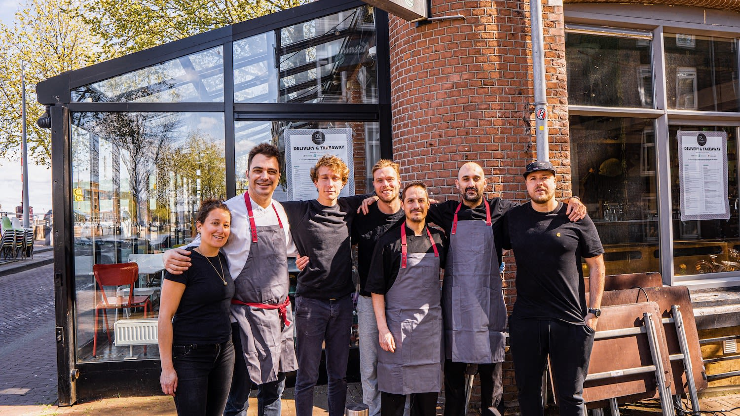 Amsterdam chefs gather for group photo at Pikoteo, best Spanish restaurant