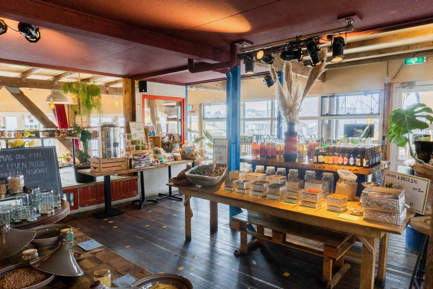 Café de Ceuvel's sustainable market and restaurant | Table Sage's Spring Favorites in Amsterdam Noord