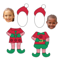 It's just a picture of Peaceful Elf Yourself Printable