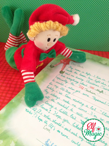 Dear Santa Letter - Elf ideas from the Elf Magic Elves
