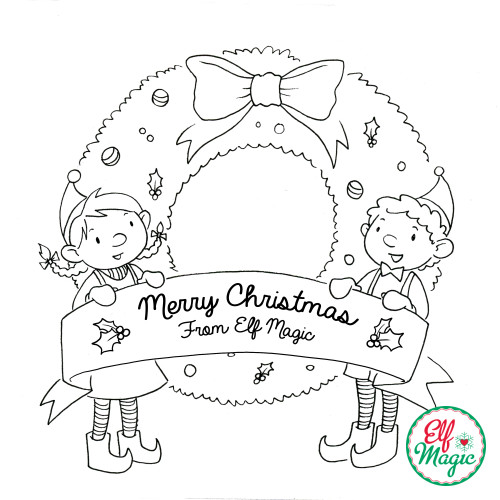 Elf Magic Coloring Sheet  Elf Ideas from Elf Magic