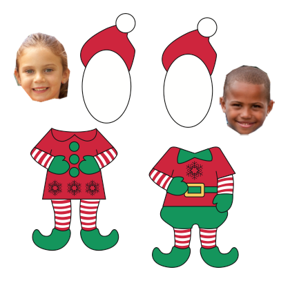 Pics Photos - Elf Yourself With This Template