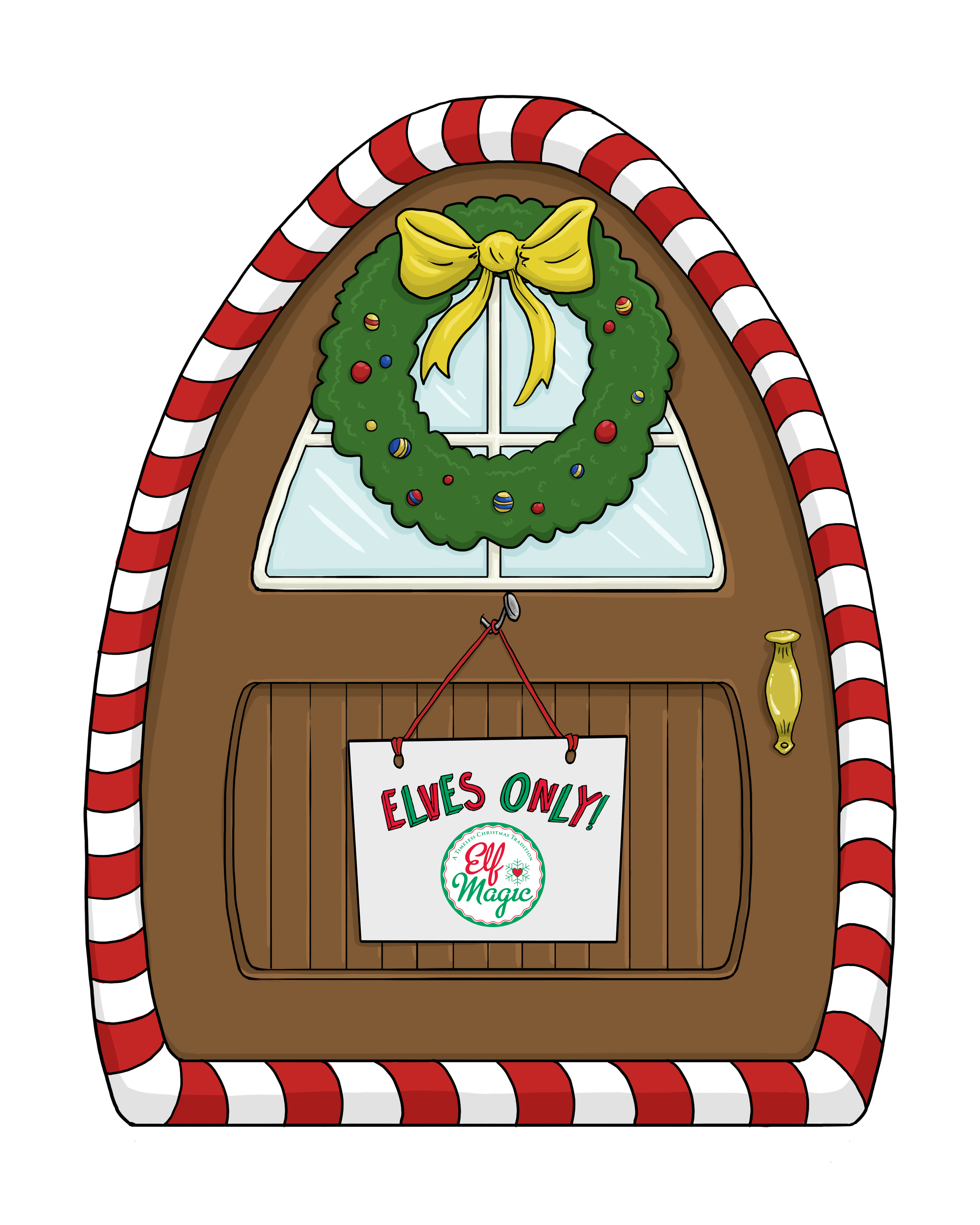 Elf magic elf door elf magic santa 39 s magic elves elf for The magic elf door