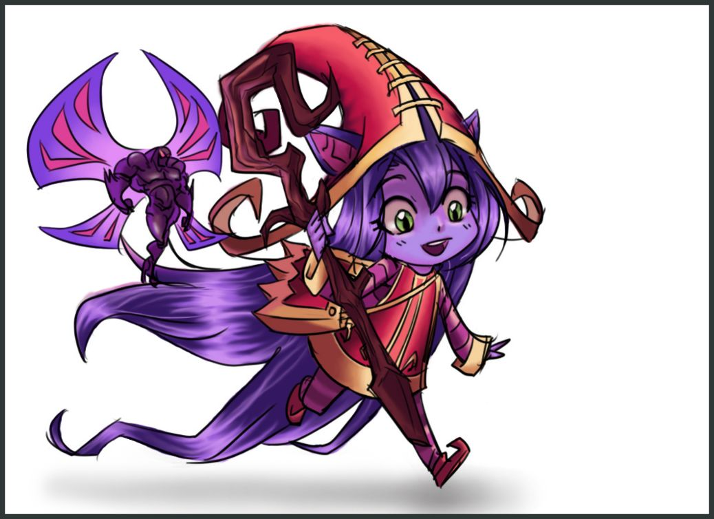 Drawing of lulu with outline