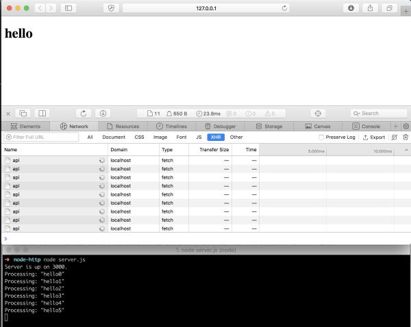 js download file post request