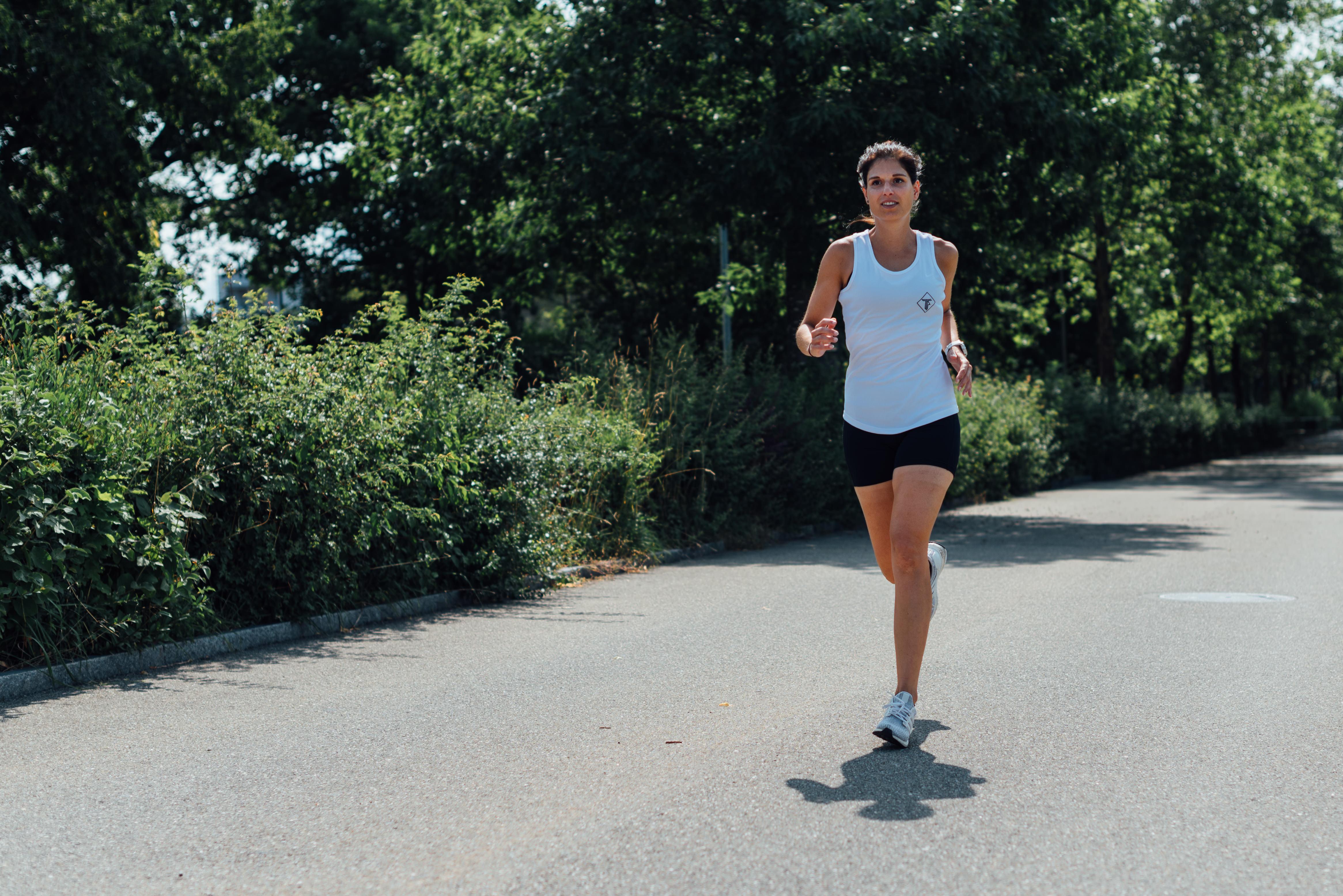 Tania am joggen